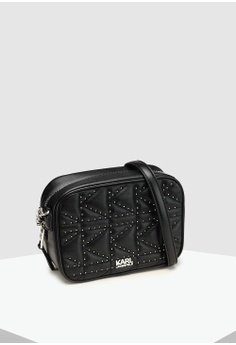 c9aebe7ebe7d KARL LAGERFELD Kuilted Studs Camera Bag RM 1