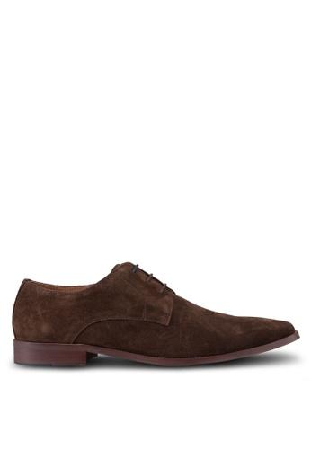 Dune London brown Richmonds Square Toe Derby Shoes DU588SH95UDKMY_1