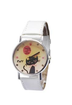 Fashionable Black Cat Design Watch For Women