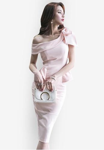 Sunnydaysweety pink Elegant Pink Polyester Cocktail Dress UA033146. 07F1DAA9CD5B3AGS_1