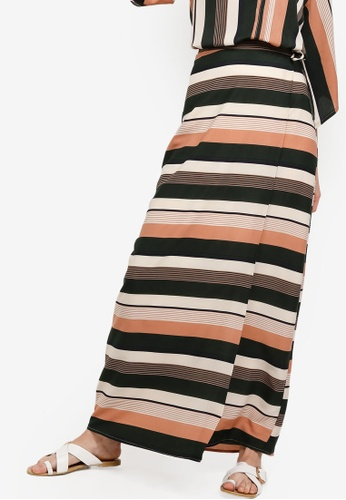 Zalia orange Wrap Skirt B8B4FAA0BC4150GS_1