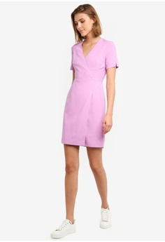 aaac17e6d9a5e6 30% OFF French Connection Whisper Ruth Wrap Dress S$ 228.90 NOW S$ 160.23  Sizes 8 10