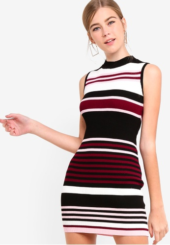 471f051ecfa Something Borrowed multi Mock Neck Bodycon Knit Dress DAB49AACF4D5B9GS 1