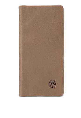 Volkswagen brown Volkswagen Bi-Fold Full Leather Long Wallet VO089AC17MWCMY_1