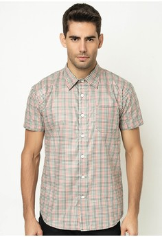 Men's Checkered Shirt with Pocket