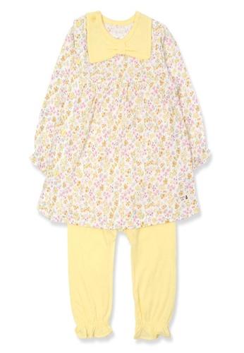 Organic mom yellow Organic Cotton Sharon Floral Lightweight Long Sleeves Pjs EF4FEKAFCF2581GS_1