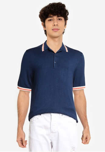 Only & Sons blue Knit Polo Shirt 3CAC1AAC8681FCGS_1
