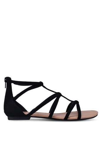 Call It Spring black Sienia Flat Sandals A2664SHE5BBBEFGS_1