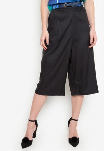 Plains & Prints black Nehemiah Culottes Pants PL509AA35FNCPH_1