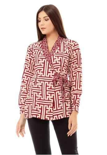Mahogany Batik red DAYRA OUTER MAROON 6C58BAA1AC4267GS_1