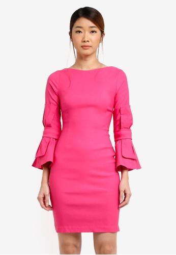 Vesper pink Vesper Piper Bow Detail Mini Dress 489E6AA9D82D0EGS_1
