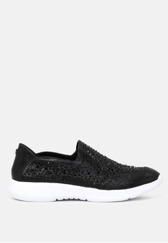 London Rag black Active Slip-on Studded Sneakers SH1726 F86F7SHE04157CGS_1