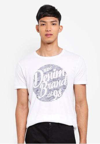 ESPRIT white Short Sleeve T-Shirt 707A3AA9ABDF9CGS_1