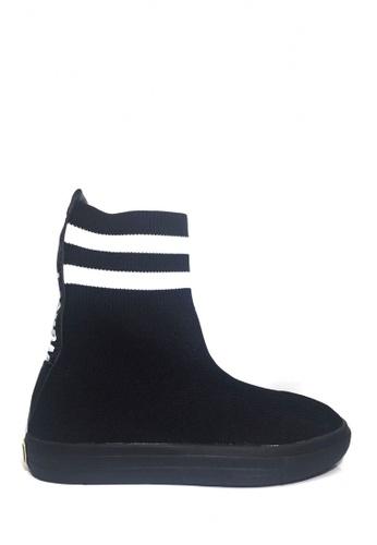 Twenty Eight Shoes 黑色 運動型襪筒靴 VB200 55808SHF7CCBFFGS_1