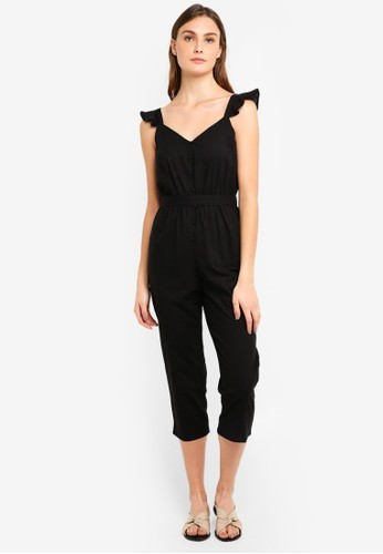 Cotton On black Woven Flo Tapered Jumpsuit B2CFFAA7BD1B50GS_1