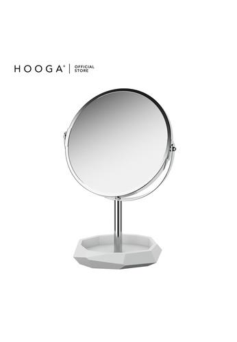 HOOGA white and silver Hooga Toiletries Vanity Mirror E2BA9HL7439894GS_1