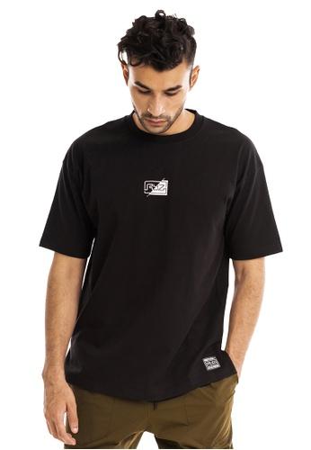 RYZ black RYZ Mini Logo with Printed Text Black Short Sleeve T-Shirt. 31A54AAE359B92GS_1