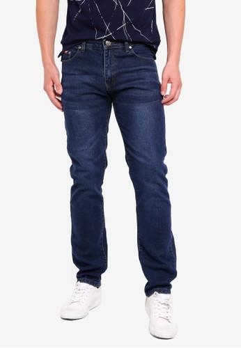 Fidelio blue 430 Slim Straight Denim Jeans 6E744AA4B0D8E9GS_1