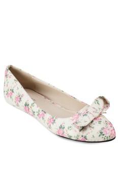 【ZALORA】 Viola 花色蝴蝶結平底鞋