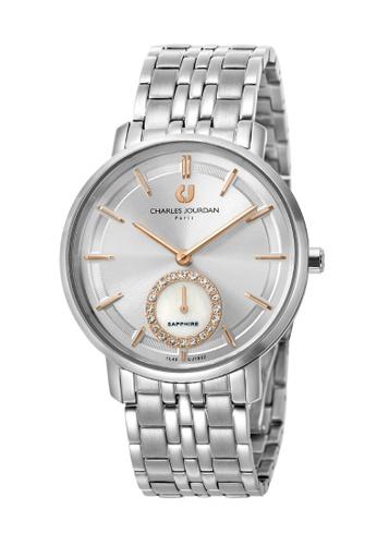 Charles Jourdan silver Charles Jourdan Ladies Watch Elegance Quartz CJ1032-2312 BO710AC0WAAYID_1
