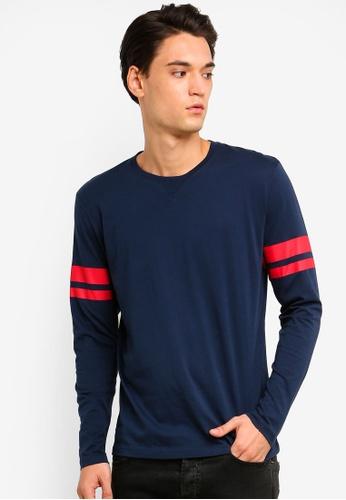 ESPRIT 海軍藍色 長袖T恤 B1AE9AA533591AGS_1