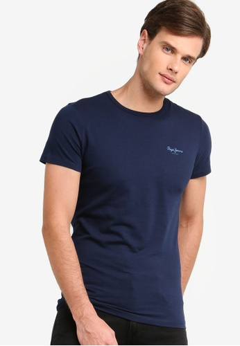 a0c71f3cdd6898 Buy Pepe Jeans Original Basic T-Shirt With Logo Online on ZALORA Singapore