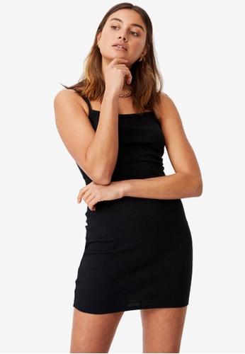 Supre black Emery Rib Mini Dress D89E6AAA35DD80GS_1