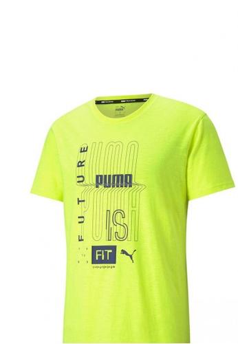PUMA yellow PUMA Performance Graphic Men's Training Tee 4C84FAA404C6C7GS_1