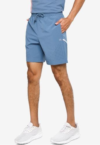 CALVIN KLEIN blue Perforated Shorts - Calvin Klein Performance 98859AA2A9AB4FGS_1
