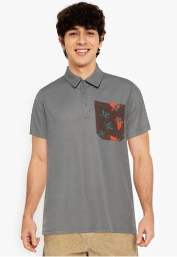 ZALORA BASICS multi Contrast Pocket Polo Tee 6B387AA75EA626GS_1