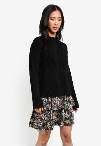 Y.A.S black Zoey Knit Pullover YA631AA0S3ZHMY_1