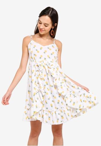 Something Borrowed 黃色 Self Tie Cami Swing Dress FF3FFAA522966FGS_1