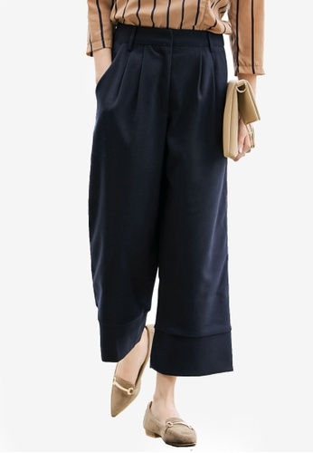 Kodz navy Tailored Culottes F7A26AAEEBC421GS_1