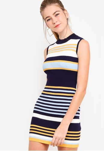 Something Borrowed multi Mock Neck Bodycon Knit Dress 83058AA09ADACBGS_1