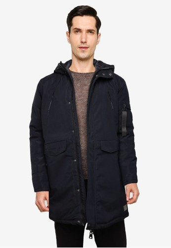 !Solid black Matis Hooded Parka 33726AA0263B6AGS_1