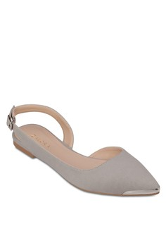 Slingback Ballerinas With Metal Tip