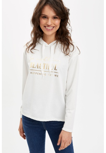 DeFacto beige Woman Knitted Sweat Shirt 7CB51AA8710875GS_1