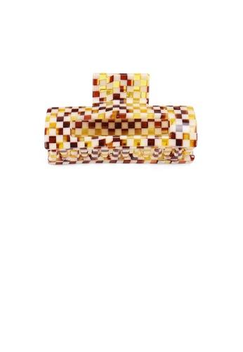 Glamorousky multi Simple and Fashion Lattice Texture Geometric Hair Claw FF3DBAC4D038FCGS_1
