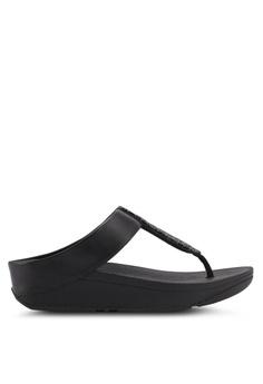 487defbde8676 FitFlop black Fitflop Sparklie Crystal Toe Post Sandals Black  97ABASHC3B50E1GS 1