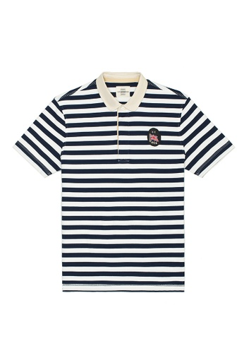 Kent and Curwen blue Blue Cotton Short Sleeves Rugby Polo 796A0AA4AE8C71GS_1