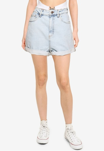 Cotton On blue High Rise Classic Stretch Denim Shorts 809ABAA637AD28GS_1