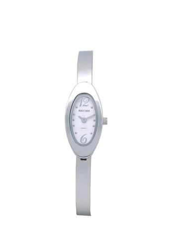 Rhythm L1403S 01 - Jam Tangan Wanita - Stainless - Silver White