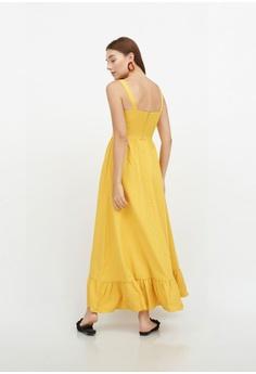 6fd21bbfe98d4 QLOTHE yellow Anna Ruffle Hem Maxi Dress D5AAAAABD23586GS 1