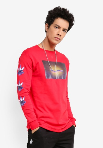 Stoned & Co red Youth Dimension L/S T-Shirt Red 54944AA313C07EGS_1
