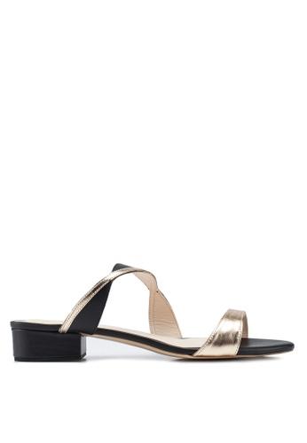 OCEEDEE 黑色 and 金色 Miriam 平底鞋 B84D7SHD153540GS_1