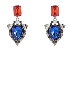 【ZALORA】 Sapphire 水滴集合閃鑽垂墜耳飾