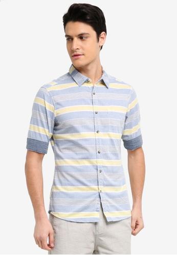 ESPRIT blue Woven Half Sleeve Shirt 1CEDDAA01CF56DGS_1
