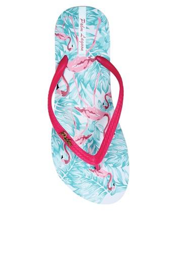 Palm Lagoon blue Sandals & Flip Flop Flamingo White Blue 6165ESHDBE9FE0GS_1