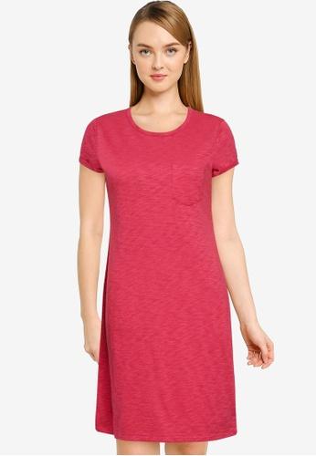 GAP 粉紅色 口袋T-襯衫洋裝 A9C8BAA100054BGS_1
