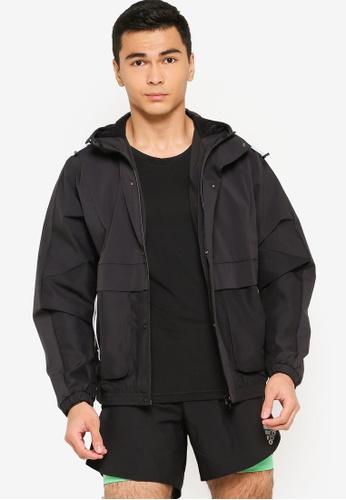 ADIDAS black adidas sportswear street woven pocket jacket EBCEEAAA7173E0GS_1